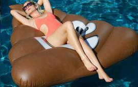 Emoji Poop Pool Float
