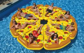 Yellow Pizza Pool Float