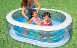 Oval-Shaped Transparent Pool